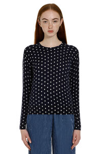 Polka-dot cashmere pullover, Crew neck sweaters Forte Forte woman
