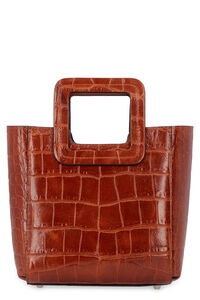 Mini Shirley leather handbag, Top handle STAUD woman