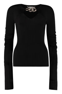 Bell sleeve ribbed top, Long sleeved Alexander Wang woman