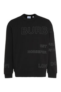 Logo detail cotton sweatshirt, Sweatshirts Burberry man