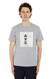 Logo print cotton t-shirt, Short sleeve t-shirts A.P.C. man