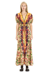 Lea printed silk dress, Printed dresses Saloni woman