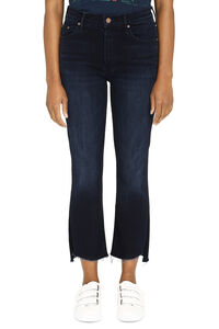 Insider Crop Step Fray 5-pocket jeans, Cropped Jeans Mother woman