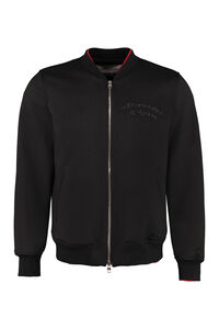 Embroidered wool bomber jacket, Bomber jackets Alexander McQueen man