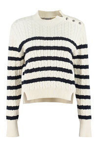 Cable knit pullover, Crew neck sweaters 2 Moncler 1952 woman