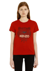 T-shirt in cotone stampa 'tiger', T-shirt Kenzo woman
