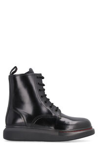 Leather combat boots, Ankle Boots Alexander McQueen woman