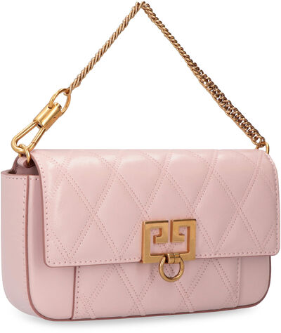 Pocket quilted leather mini-bag