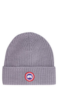 Ribbed knit beanie, Hats Canada Goose man
