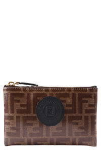 Coated canvas flat pouch, Pouches Fendi woman