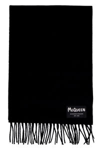 Wool scarf with fringes, Scarves Alexander McQueen man