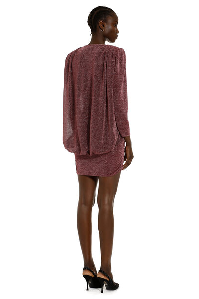 Knitted lurex mini-dress