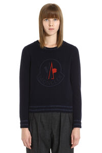 Wool and cashmere pullover, Crew neck sweaters Moncler woman