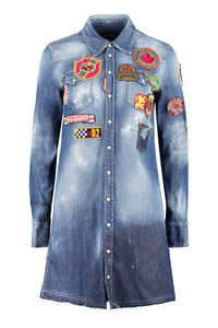 Denim embellished dress, Mini dresses Dsquared2 woman