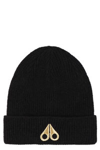 Logo wool beanie, Hats Moose Knuckles woman