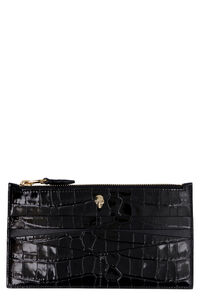 Croco-print leather wallet, Wallets Alexander McQueen woman
