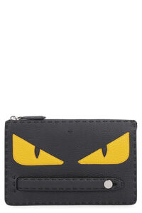 Bag Bugs detail leather pouch, Poches Fendi man