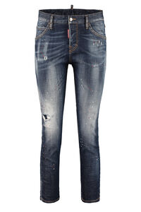 Cool Girl worn-out details jeans, Skinny Leg Jeans Dsquared2 woman