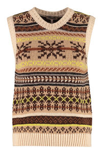 Knitted vest, Patterned sweaters Baum und Pferdgarten woman