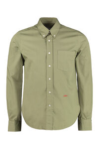 Button-down collar cotton shirt, Plain Shirts AMI man