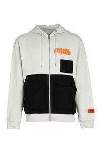 Cotton full zip hoodie, Zip through Heron Preston man