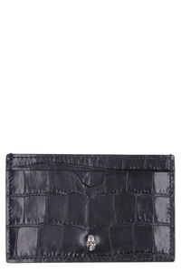 Printed leather card holder, Wallets Alexander McQueen man