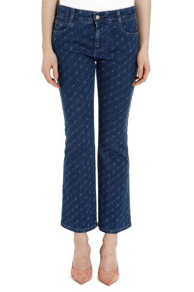 Slightly flared skinny-fit jeans