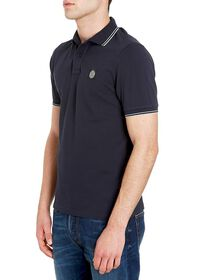 Cotton piquet polo shirt with contrasting details, Topwear Stone Island man
