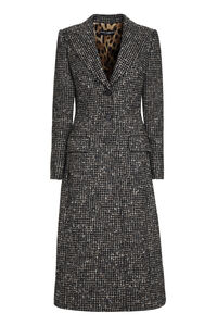 Checked wool long coat, Long Lenght Coats Dolce & Gabbana woman