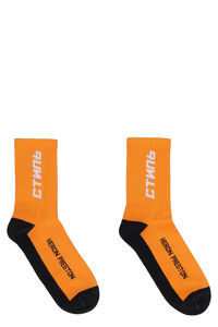 Cotton socks with logo, Socks Heron Preston man
