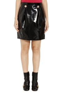 Faux leather mini skirt, Mini skirts Versace woman
