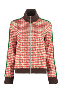 Contrasting stripes full-zip jacket, Zip-up sweatshirts Gucci woman