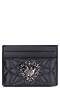 Quilted leather card holder, Wallets Dolce & Gabbana woman