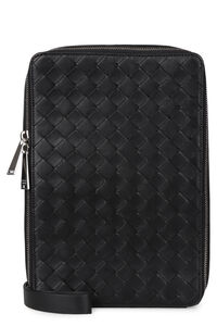 Maxi Intreccio leather messenger bag, Messenger bags Bottega Veneta man