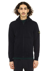 Full zip hoodie, Zip through Stone Island man