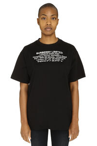 Printed short sleeve cotton T-shirt, T-shirts Burberry woman