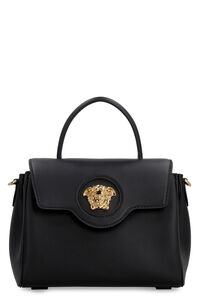 Leather handbag, Top handle Versace woman