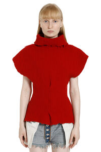 Ribbed wool turtleneck sweater, Turtleneck sweaters Unravel Project woman