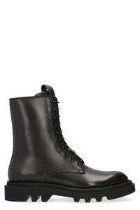 Combat leather lace-up derby shoes, Lace-up boots Givenchy man