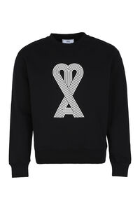 Logo detail cotton sweatshirt, Sweatshirts AMI man