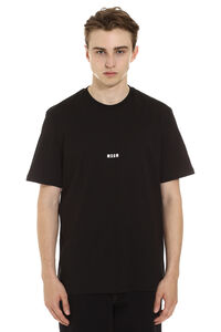 Logo print cotton t-shirt, Short sleeve t-shirts MSGM man