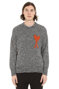 Cotton and wool blend crew-neck sweater, Crew necks sweaters AMI man