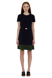 Knitted dress with belt, Mini dresses Tory Burch woman