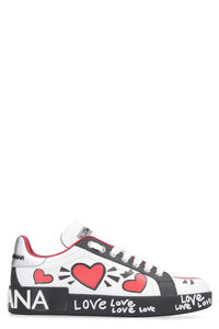 Printed leather sneakers, Low Top sneakers Dolce & Gabbana woman