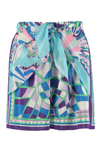 Printed silk blend shorts, Shorts Emilio Pucci woman