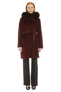 Osmio hooded alpaca-blend coat, Knee Lenght Coats Max Mara Studio woman