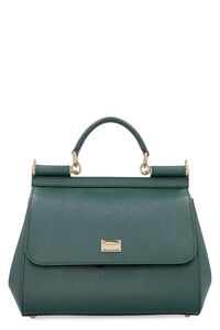 Sicily leather handbag, Top handle Dolce & Gabbana woman
