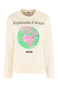 Printed cotton sweatshirt, Sweatshirts MSGM woman