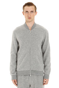 Cashmere full-zip sweatshirt, Zip through Brunello Cucinelli man