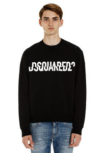 Logo detail cotton sweatshirt, Sweatshirts Dsquared2 man